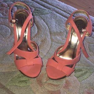Pink Qupid Heels, size 6
